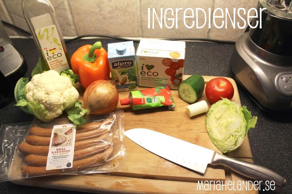 ingredienser -korv